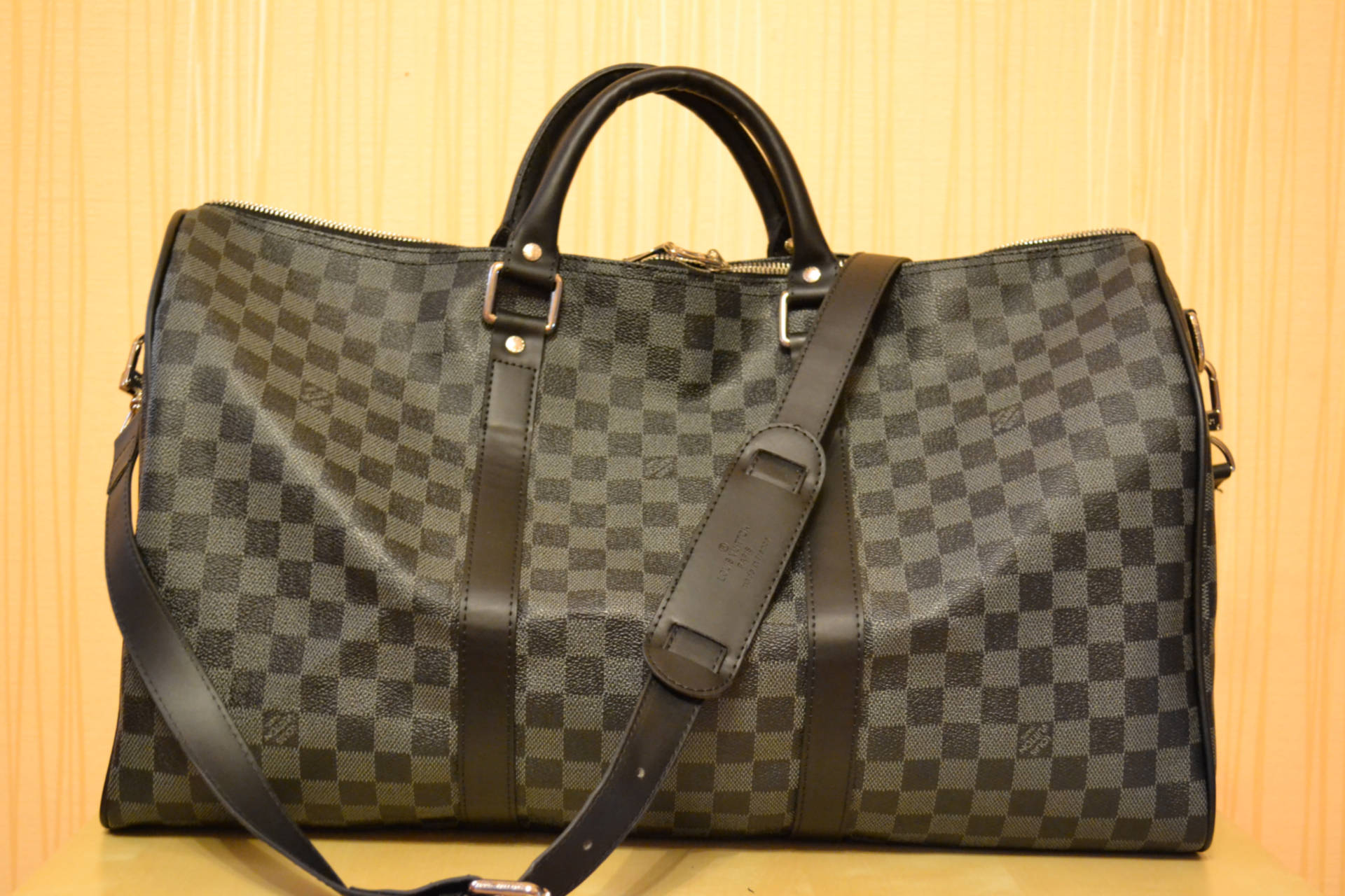 97939a44a534 Копия сумки Louis Vuitton Neverfull, серая, Канва (сумка) + 100% Кожа